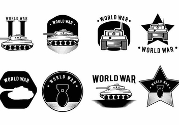 World War 2 Badge Set - vector #371677 gratis