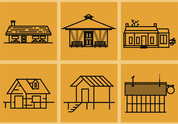 Shack Vector Illustrations - бесплатный vector #371707