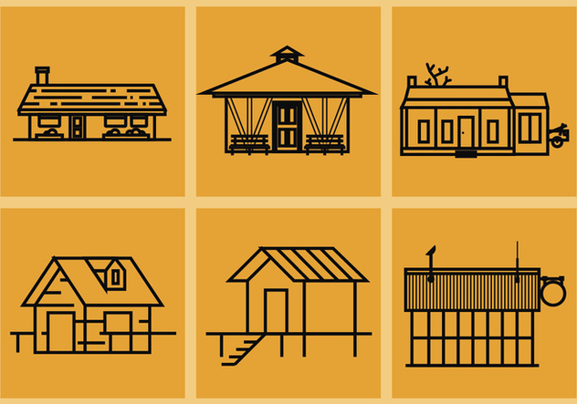 Shack Vector Illustrations - vector gratuit #371707