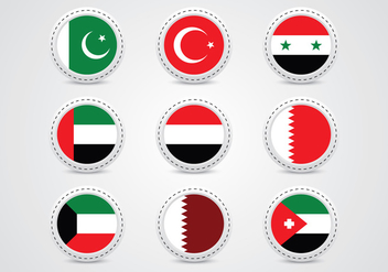 Middle East Metal Pin - vector gratuit #371747