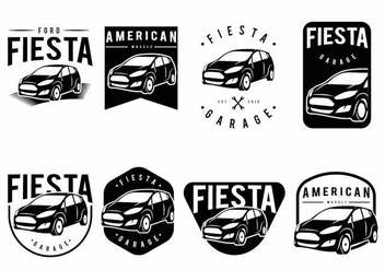 Ford Fiesta Badge Set - vector #371777 gratis