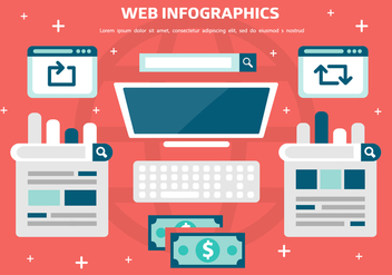 Free Web Infographics Vector Background - vector gratuit #371837