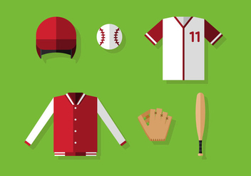 Vector Baseball Equipments - бесплатный vector #371847