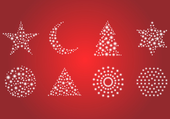Free Set of Glitter and Sparkling Object Vector. - Kostenloses vector #371867