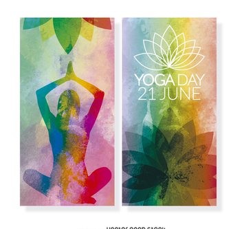 2 Yoga Day vertical banners - бесплатный vector #371947