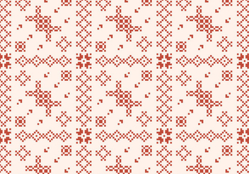 Stitching Rustic Pattern - vector gratuit #372067