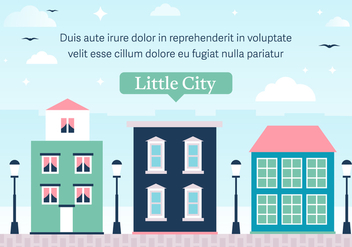 Free Little Vector City - бесплатный vector #372097