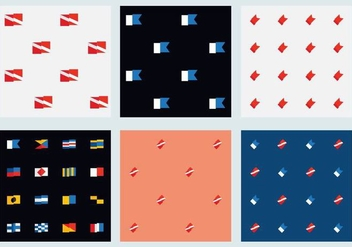 Free Marine Flag Patterns - vector gratuit #372167