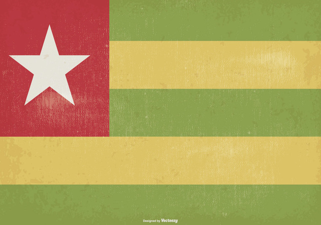 Vintage Togo Flag Illustration - бесплатный vector #372187