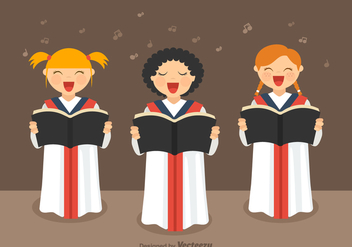 Free Girls Choir Vector - Kostenloses vector #372217