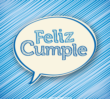 Feliz cumple sticker card - Free vector #372297