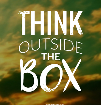 Think outside the box design - vector #372357 gratis