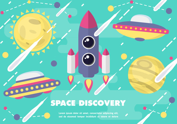 Free Space Discovery Vector Illustration - vector gratuit #372387