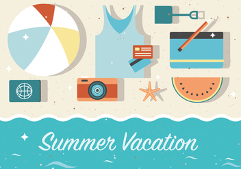 Free Summer Vacation Vector Background - бесплатный vector #372407