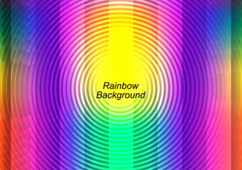 Free Vector Colorful Rainbow Background - vector #372467 gratis