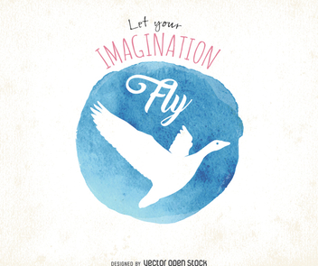 Watercolor imagination poster - Free vector #372537