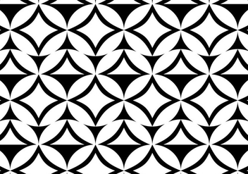 Free Vector Black and White Pattern Background - Free vector #372627