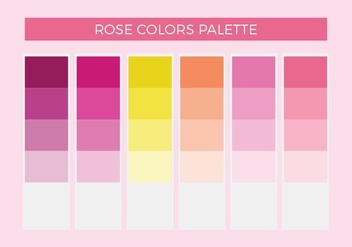 Free Rose Colors Vector Palette - бесплатный vector #372647