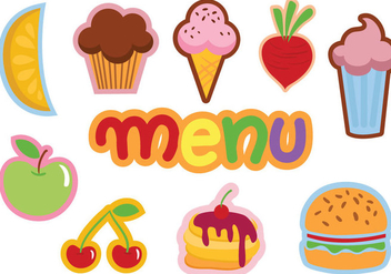 Free Kids Menu Vectors - бесплатный vector #372697
