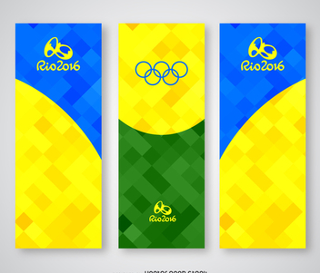 Colorful Rio 2016 polygonal banner - vector gratuit #372707