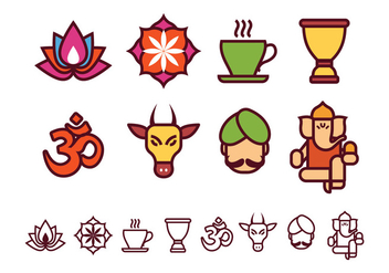 Free India Icons Collection - vector gratuit #372967