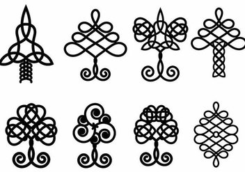 Celtic Tree Vector Set - Kostenloses vector #372987