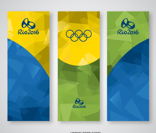 Rio 2016 vertical banner set - Free vector #373047