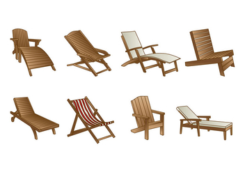 DECK CHAIR VECTOR - Free vector #373107