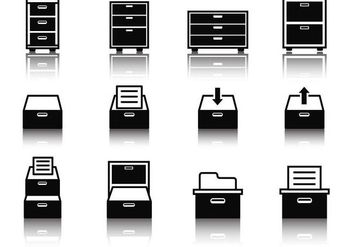 Free File Cabinet Icons Vector - Free vector #373117