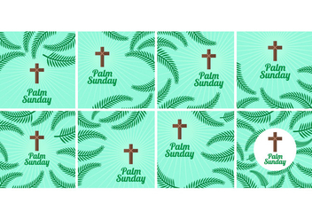 Free Palm Sunday Vector Background - vector gratuit #373157