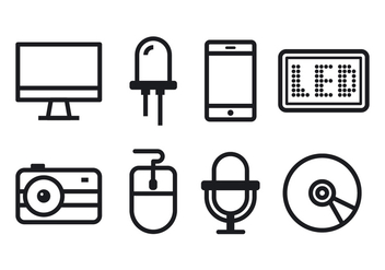 Free Technology Icon Set - vector #373217 gratis