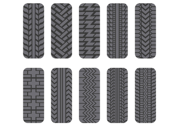 Tractor Tire Icons Pack - vector #373227 gratis