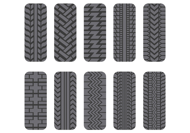 Tractor Tire Icons Pack - vector gratuit #373227