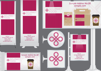 Gourmet Food Banners - Free vector #373287