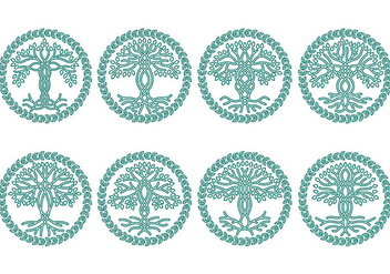 Celtic tree icons - vector #373317 gratis