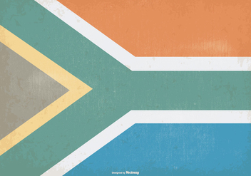 Vintage Flag of South Africa - vector gratuit #373337