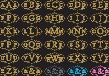 Cloud Monograms - vector #373407 gratis
