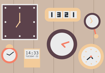 Wall Clocks - vector gratuit #373417