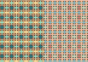 Square Set Decorative Pattern - vector #373437 gratis