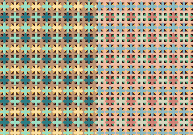 Square Set Decorative Pattern - Free vector #373437