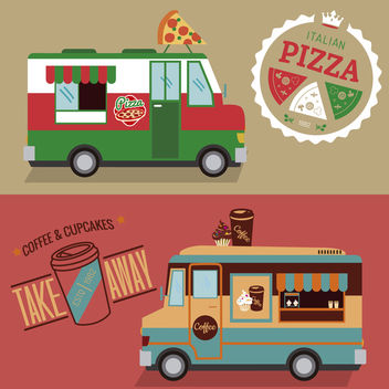 Food truck design set - vector gratuit #373497