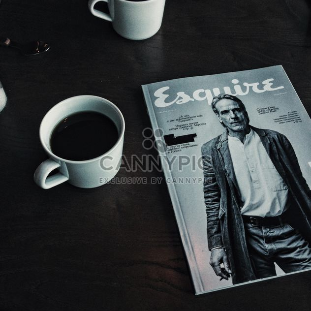 Coffee and magazine - Free image #373527