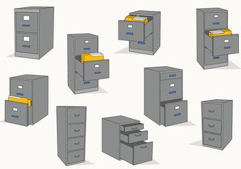 Free Files Cabinet Vector - Free vector #373557