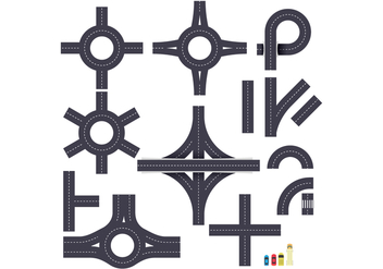 Free Roundabout and Junction Road Vector - Kostenloses vector #373577