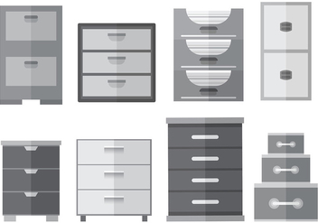 Free File Cabinet Icons Vector - Free vector #373627