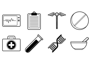 Free Medical Stuff Icon Vector - Free vector #373647