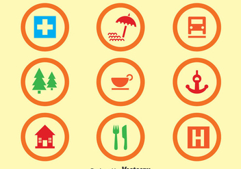 Map Legend Circle Icons - бесплатный vector #373657