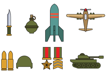 World War 2 Icon Vector - Kostenloses vector #373747