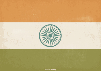 Old Vintage Style India Flag - Kostenloses vector #373797