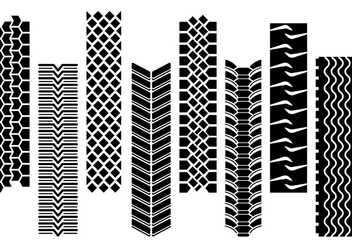 Set Of Tractor Tire Vector - Free vector #373827